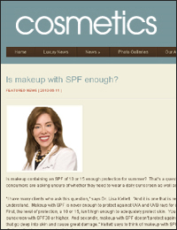 Makeup with SPF - Cosmetics Online, June 11 2010